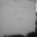 Thumbnail image for Racist graffiti allowed to remain on OB apartment wall