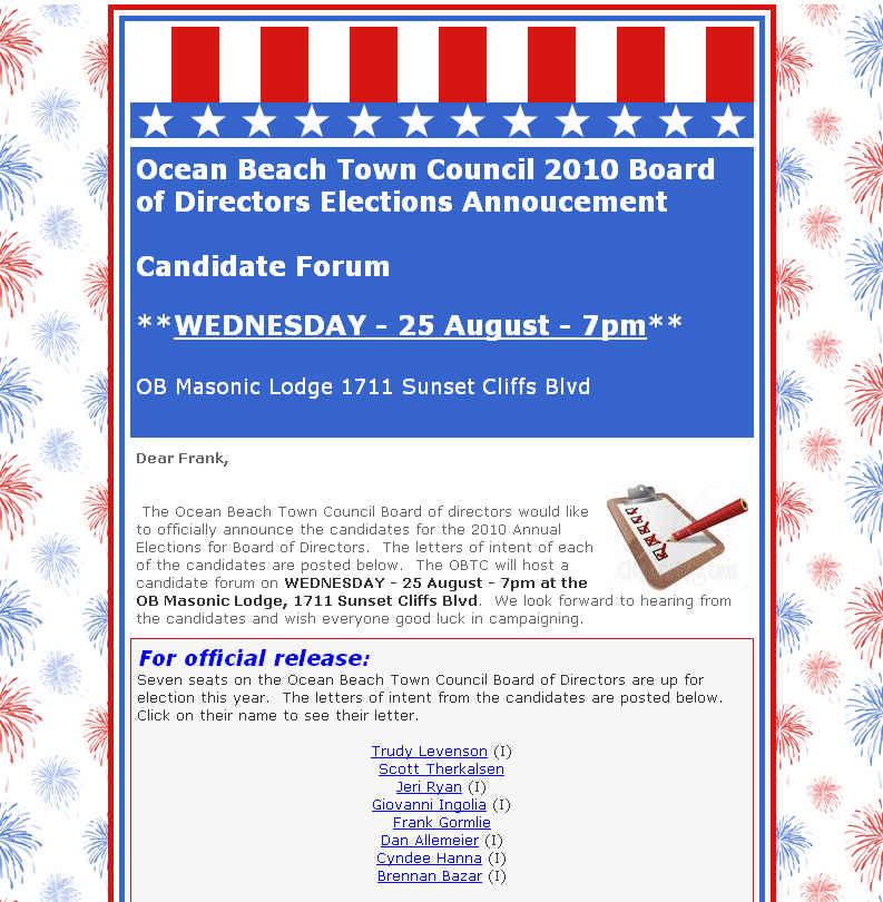 OB Town Council ballot annou Aug 2010