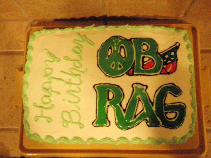 OB Rag birthday cake