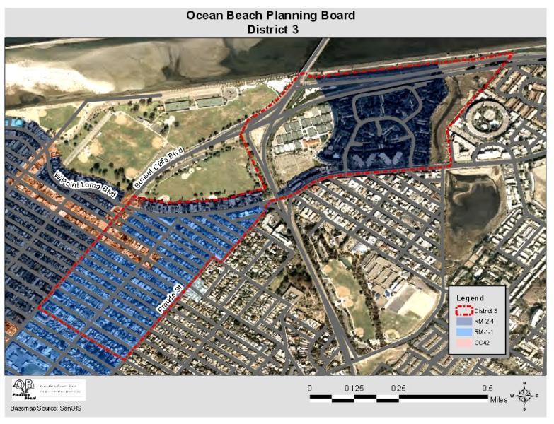 OB Plan Bd Dist 3 map