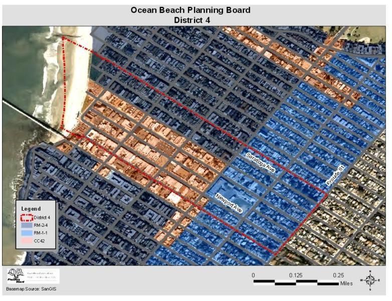 OB Plan Bd Dist 4 map