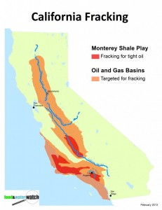 fracking calif map