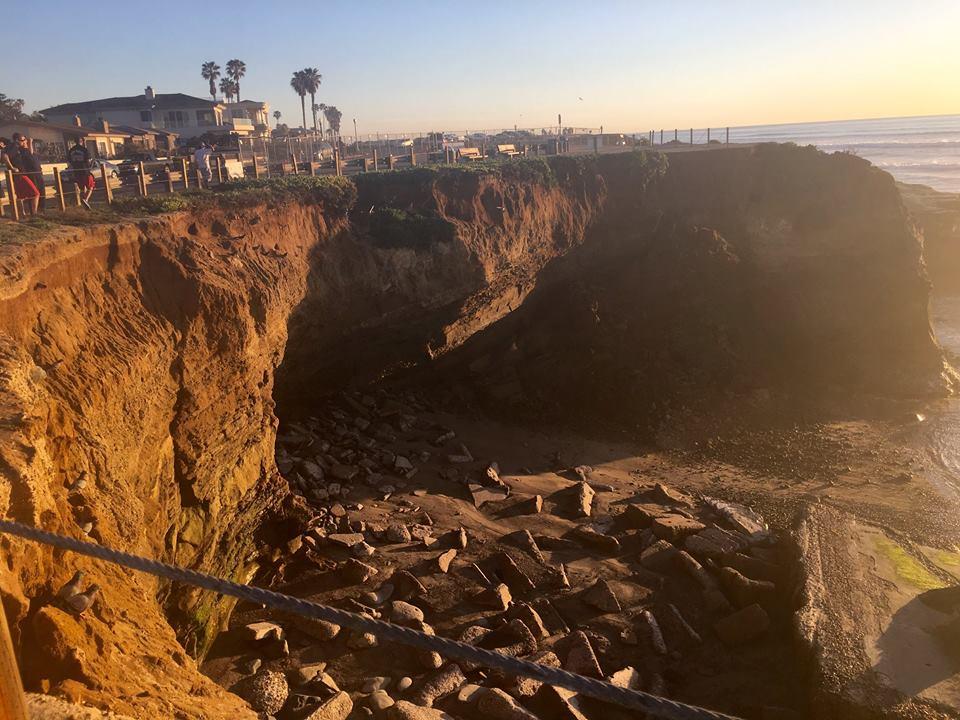 sunset cliffs collapse 2-14-16 fb