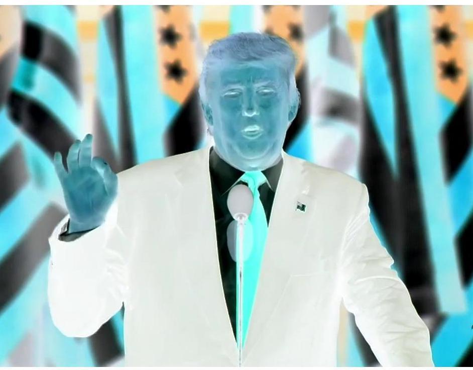 Donald Trump colors invert